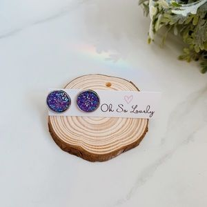 Jewelry - 3/$30 Purple druzy